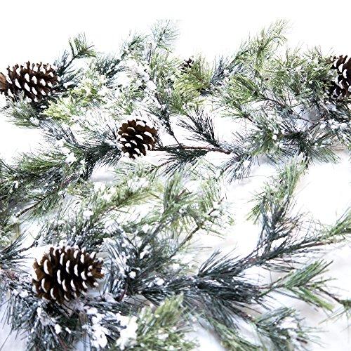 CraftMore Snowville Pine Christmas Garland, 72 Inch