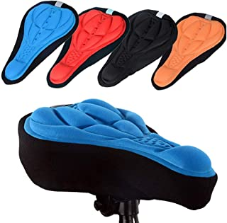 Cycling Bike 3D Silicone Gel Pad Seat Saddle Cover Soft Cushion, Mountain Bike Cycling, Bicycle Saddle