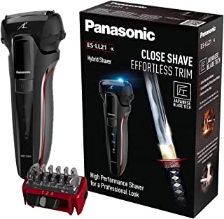 Panasonic ES-LL21 Hybrid Wet and Dry Rechargeable Electric 3-Blade Shaver & Trimmer for Men (UK 2 Pin Plug)