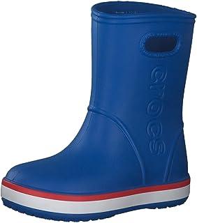Crocs Kids' Crocband Rain Boot   Waterproof Slip On Shoes   Kids' Rain Boots