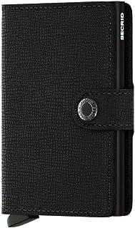 محفظة صغيرة للنساء من سيكرد من الجلد الأصلي RFID حافظة بطاقة آمنة لأحد 12 بطاقة