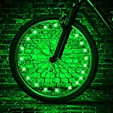 TINANA LED Bike Wheel Lights Ultra Bright Waterproof Bicycle Spoke Lights Cycling Decoration Safety Warning Tire Strip Light for Kids Adults Night Riding 1Pack (Green)