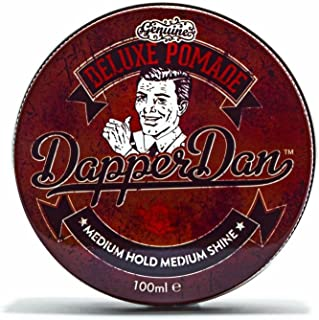 Deluxe Pomade By Dapper Dan, Medium Hold Medium Shine, No Greasiness Or Flakiness, Citrus & Vanilla Fragrance 100ml