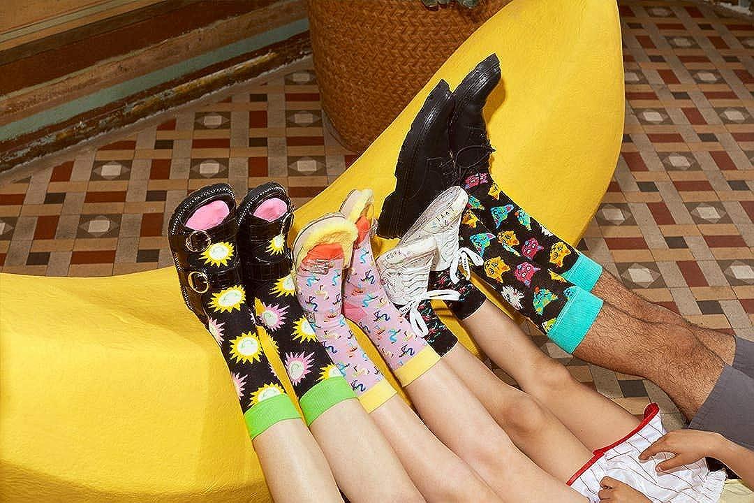 Happy Socks Men's Confetti Palm Boxer Brief