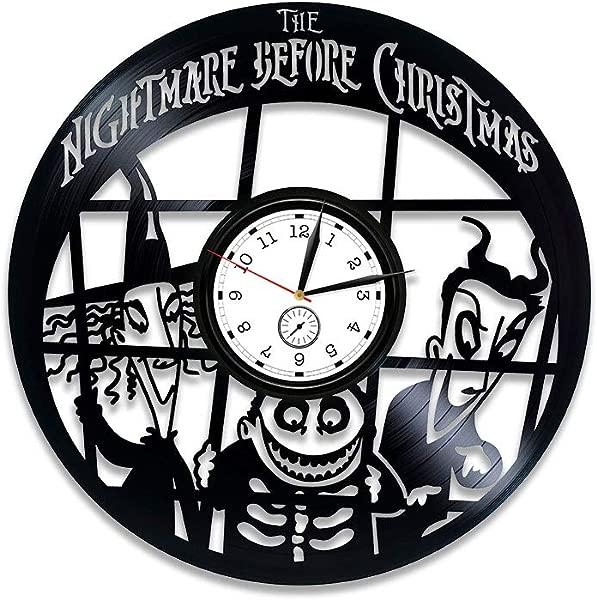 Kovides The Nightmare Before Christmas Vinyl Clock The Nightmare Before Christmas Vinyl Wall Clock The Nightmare Before Christmas Clock Xmas Gift Vinyl Record Wall Clock Gift Kids Wall Clock Large