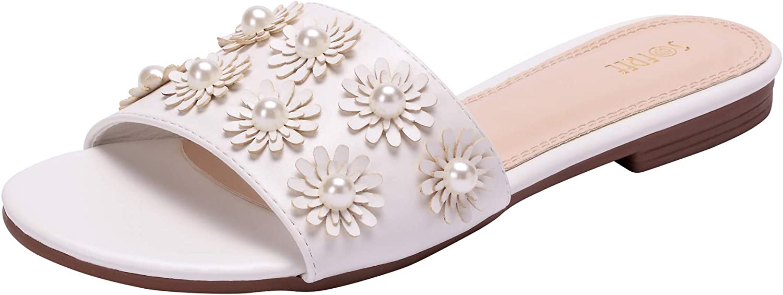 Sofree Women's Summer Rhinestone Sandals Flat Slippers