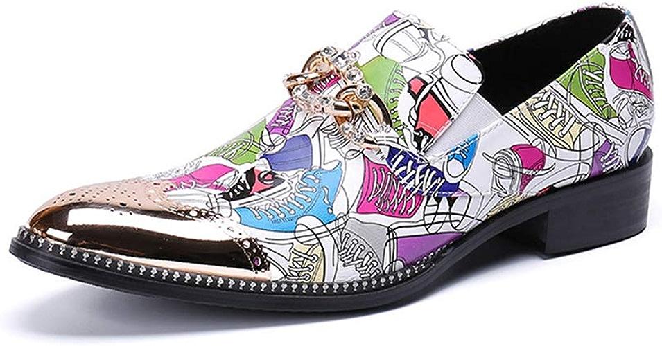 XWDQ Chaussures d'affaires pour Homme,De Marée Basse en Cuir De Marque Décontractée Chaussures Simples Chaussures Hommes