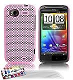 Muzzano F04S07-048293 - Funda para HTC Sensation, con 3 protectores de pantalla, color rosa