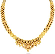 Candere By Kalyan Jewellers Metal Yellow Gold Necklace for Women