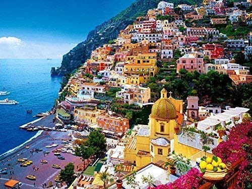 Prime Leader Ranking TOP11 Fees free Positano Amalfi Coast Italy Painting Can - Oil On