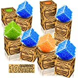 Party Puzzle Games,Maze Memory Cubes Brain Teaser Puzzles Toys for Kids Adults Christmas Party Favor Games - 10 Boxes for Classroom Exchange & Gift & Prizes