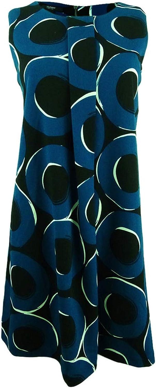 Alfani Womens Plus Pleated Geo Print Cocktail Dress
