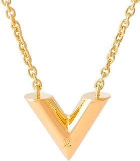 [ルイヴィトン] LOUIS VUITTON 正規品 ネックレス エセンシャルV チェーン ショップバッグ付き M61083 (ゴールド)