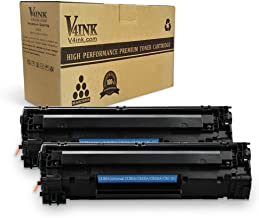 V4INK Compatible Toner Cartridge Replacement for HP CE285A 85A Canon 125 CB435A CB436A (Black, 2-Pack),for use in HP LaserJet Pro P1102 P1102w P1110 M1212 M1212NF MFP M1217NFW M1132 M1214 Canon MF3010