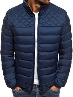 Howely Mens Puffer Winter Stand Collar Thermal Quilted Coat Outwear