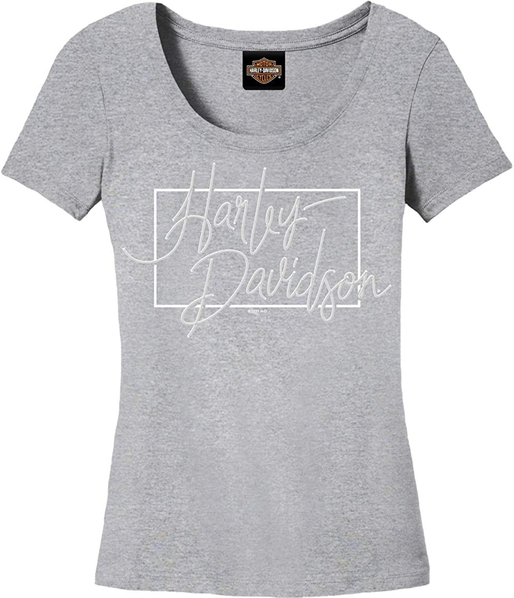 Harley-Davidson Military - Women's Grey Graphic Max 86% OFF Heather Our shop most popular Tri-Blen