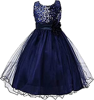 kids Showtime Flower Girls Summer Sequin Chiffon Special Occasion Party Princess Dress