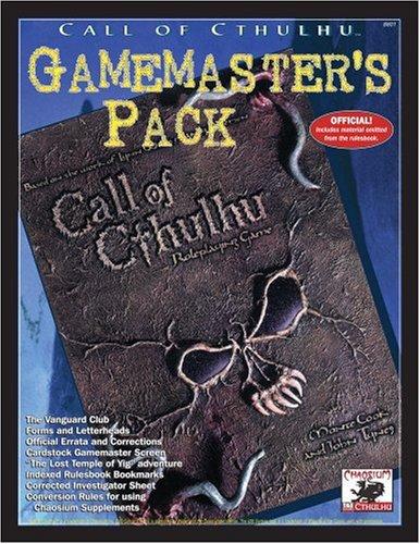 Call of Cthulhu Gamemaster's Pack