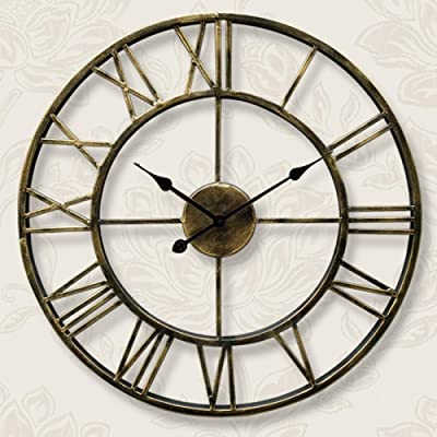 CGH Modern Minimalist European Wall Clock, Living Room Nordic American Home Office Personality Fashion Clock