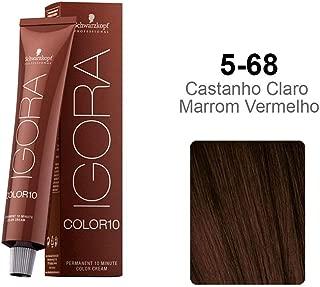 Schwarzkopf Professional Igora Hair Color, 5-68, Light Brown Auburn Red, 2.1 Ounce