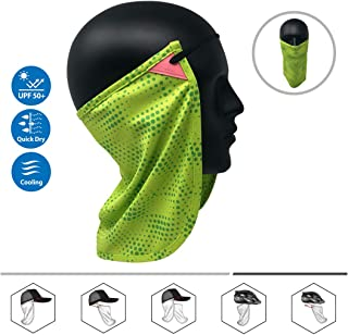 Neck or Face Sun Mask   1 Product 2 Uses   Removable Universal Fit Headband + Flap   Cap   Hat   Bike   Ski   Hard Hat Helmets UPF 50+ Patented Multifunctional Headwear