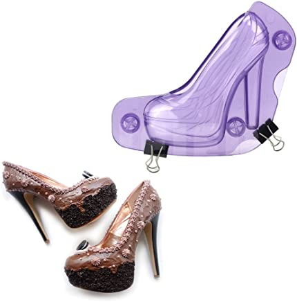 GZU High Heels Funny Candy Chocolate Baking 3D Mold Confectionery Decorating Tool - Purple