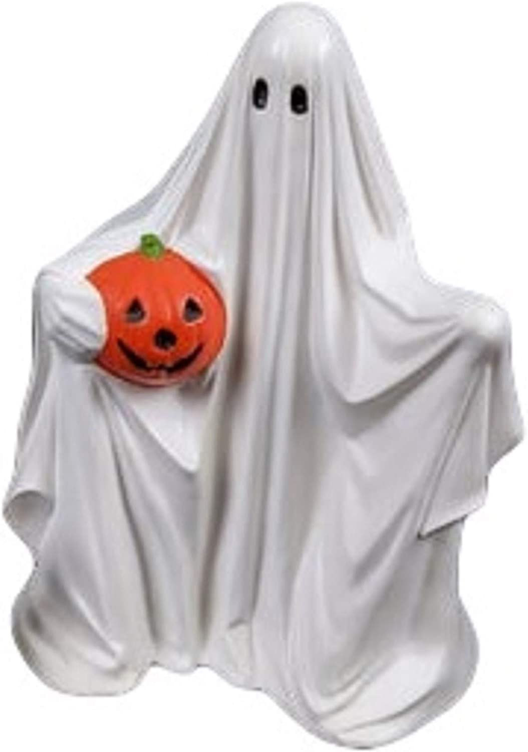 Ghost with Pumpkin Outlet sale feature Halloween Ready Bisque Ceramic to sold out Paint