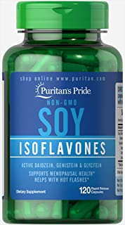 Puritan's Pride Non-GMO Soy Isoflavones 750 Mg Rapid Release Capsules, 120 Count