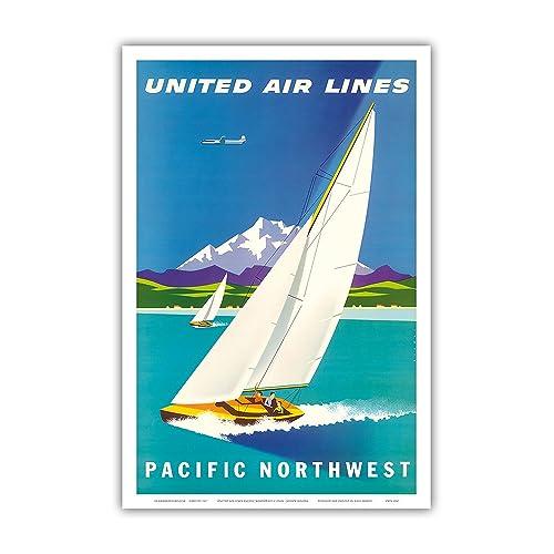 Puerto Rico Sailboat Beach Boat Ocean Tourism Trip Vintage Poster Repro FREE S//H