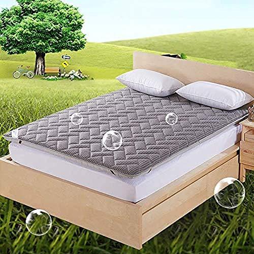 WENZHEN Colchon De Matrimonio,Malla Transpirable Piso japonés futón colchón Grueso Plegable Plegable Enrollable Almohadilla para Dormir-si_120x190 cm (47x75 Pulgadas)