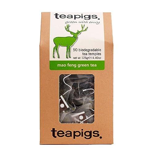 teapigs Mao Feng Green Tea 125 g (Pack of 1, Total 50 Tea Bags)