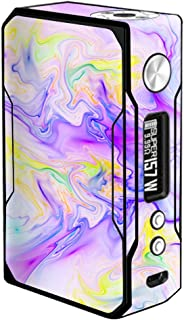 Skin Decal Vinyl Wrap for VooPoo Drag 157W TC Vape stickers skins cover/Pastel Marble resin pink purple swirls mix