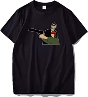 Famous Movie Leon Tshirt Men Cartoon Shirt Cotton Soft T-Shirt Hip Hop Tops