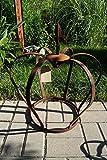 Dekostüberl Edelrost Krone bauchig mit Lilienspitze 54 x 50cm Gartendekoration Metall