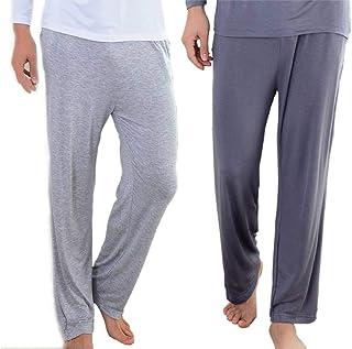 Wantschun Men's Modal Mix Bamboo Fiber Casual Lounge Pants with Pockets Yoga Trousers Sleepwear Pyjamas Sleeping Bottoms N...