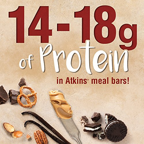 Atkins Almond Butter Meal and Snack Bar Variety Pack. Gluten-Free, Light and Crispy Protein