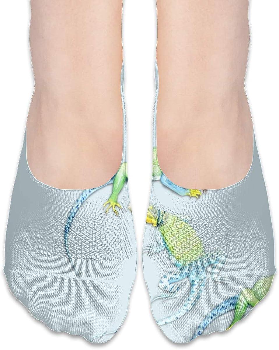 Personalized No Show Socks With Lizard Elegant Animal Print For Women Men