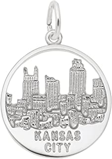 Kansas City Skyline Charm, Charms for Bracelets and Necklaces