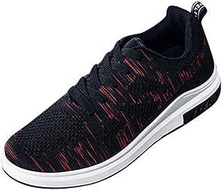 ランニングシューズ スニーカー レディース メンズ ジョギングシューズ 運動靴 軽量 防水 通学靴 [春の屋] メンズライトスニーカー通気性メッシュカジュアルシューズウォーキングアウトドアランニングシューズ