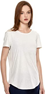 CRZ YOGA Women's Pima Cotton Workout Activewear Running Sports T-Shirt Short Sleeve Tee