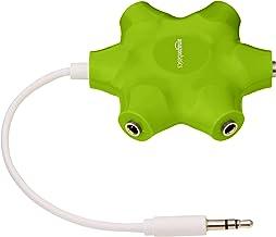 امازون بيسكس مقسم الصوت متعدد إلى خمسة منافذ، اخضر ليموني