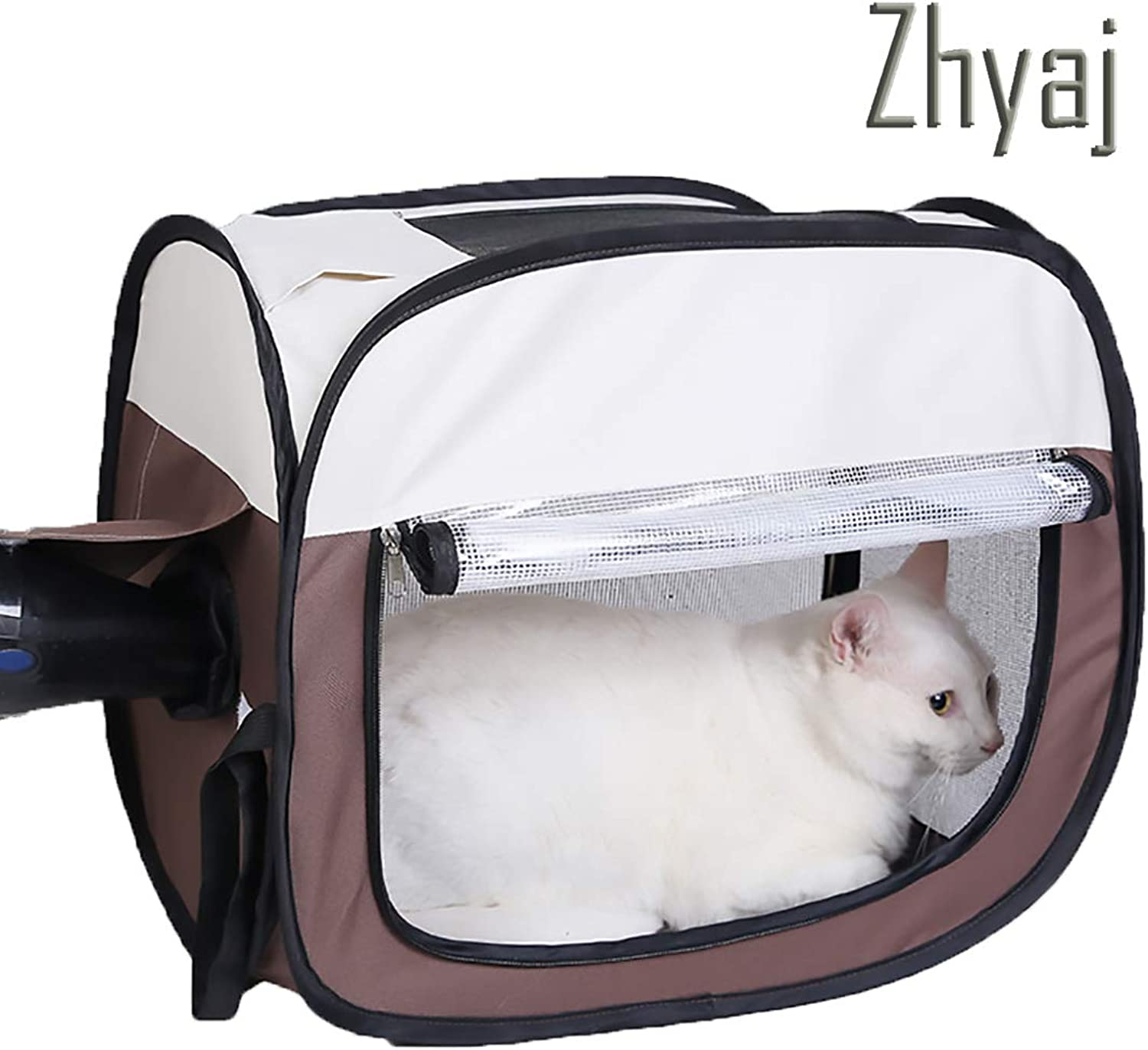 Outdoor Dog Kennel, Foldable Portable Car Pet Carrier Drying Box 600D Oxford Cloth Large Dog House Dog Tent,B
