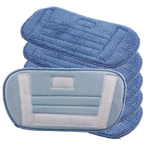 Spares2go Harde vloerbedekkingen/microvezeldoekjes voor Morphy Richards 70465 720501 Stoomreiniger Mop (Pack van 2, 4, 6 of 8) 6 Pad Covers