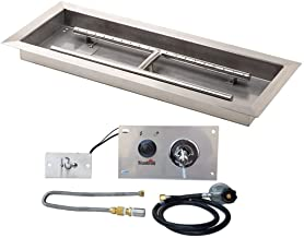 Stanbroil 30 inch Rectangular Drop-in Fire Pit Pan with Spark Ignition Kit Propane Gas Version