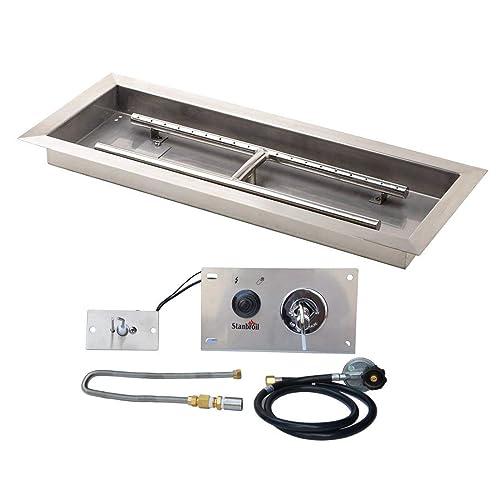 Rectangular Fire Pit Gas Burner Kit Amazon Com