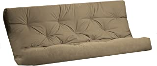 Royal Sleep Products Futon Mattress Solid Cover 8 Layer Factory Direct Made in The USA (Khaki, Queen)