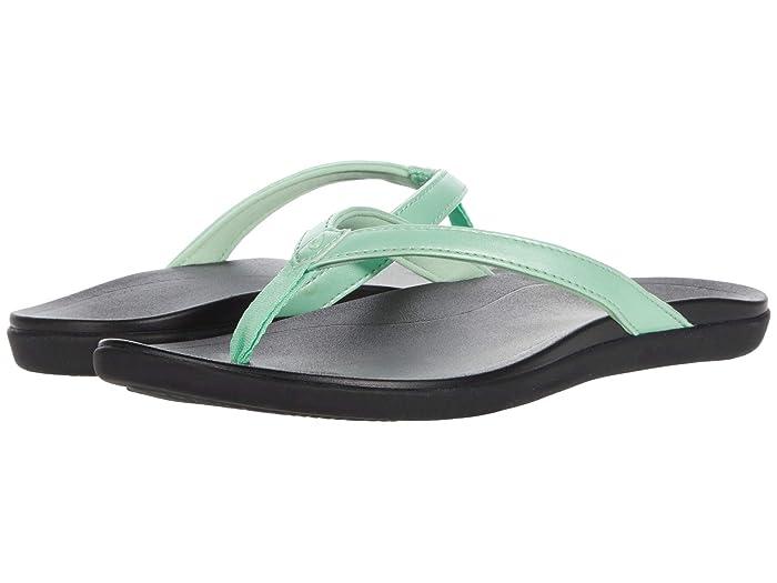Ho'opio  Shoes (Mint/Black) Women's Sandals