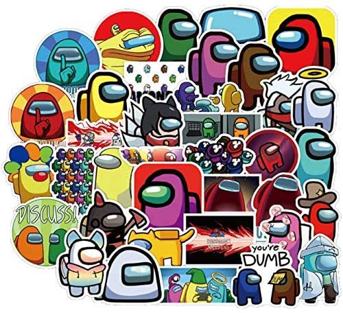 MTCD Game Stickers 50pcs, Kids DIY Cartoon Graffiti Waterproof Vinyl Stickers Funny Anime for Bottle Laptop Luggage Skateboard Suitcase Guitar Furniture