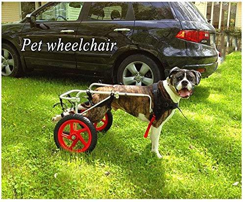 Xbshmw Perro Silla de Ruedas Perro Viejo Scooter, Perro Discapacitado Asistido Pata Trasera Paseante, Tamaño Libremente Ajustable para Cachorro Perro Parálisis Piernas Lesionadas Rehabilitación,XL