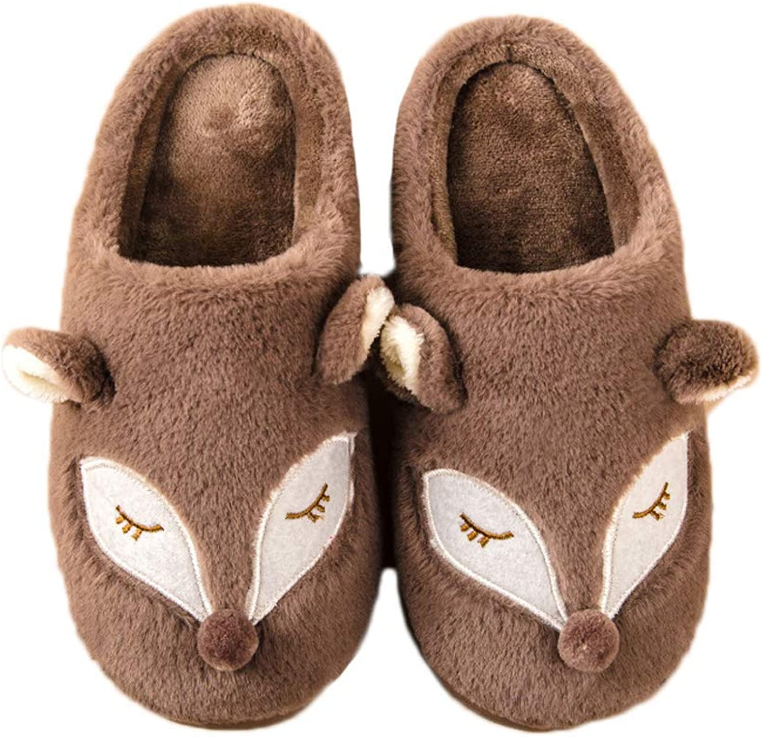 Techcity Slippers Men Women Cute Animal Comfy Memory Foam House shoes w Indoor & Outdoor Anti-Skid Sole Arch Support